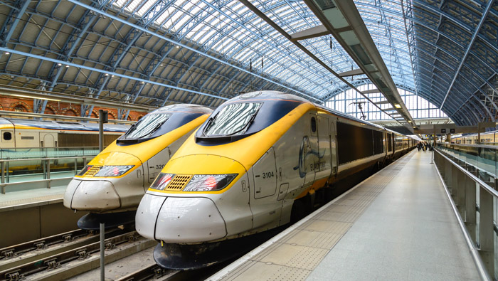 Eurostar Trains St Pancras London