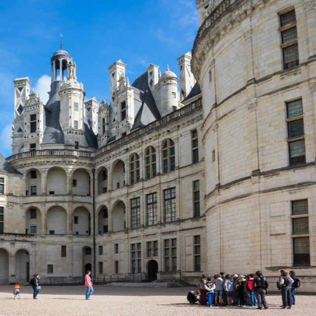 Photo of inner courtyard Chateau Chambord